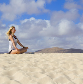 Meditation in Fuerteventura